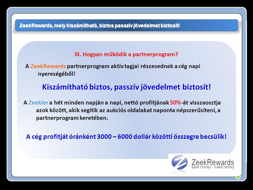 A ZeekRewards partnerprogram aktív tagjai részesednek a cég napi nyereségéből.