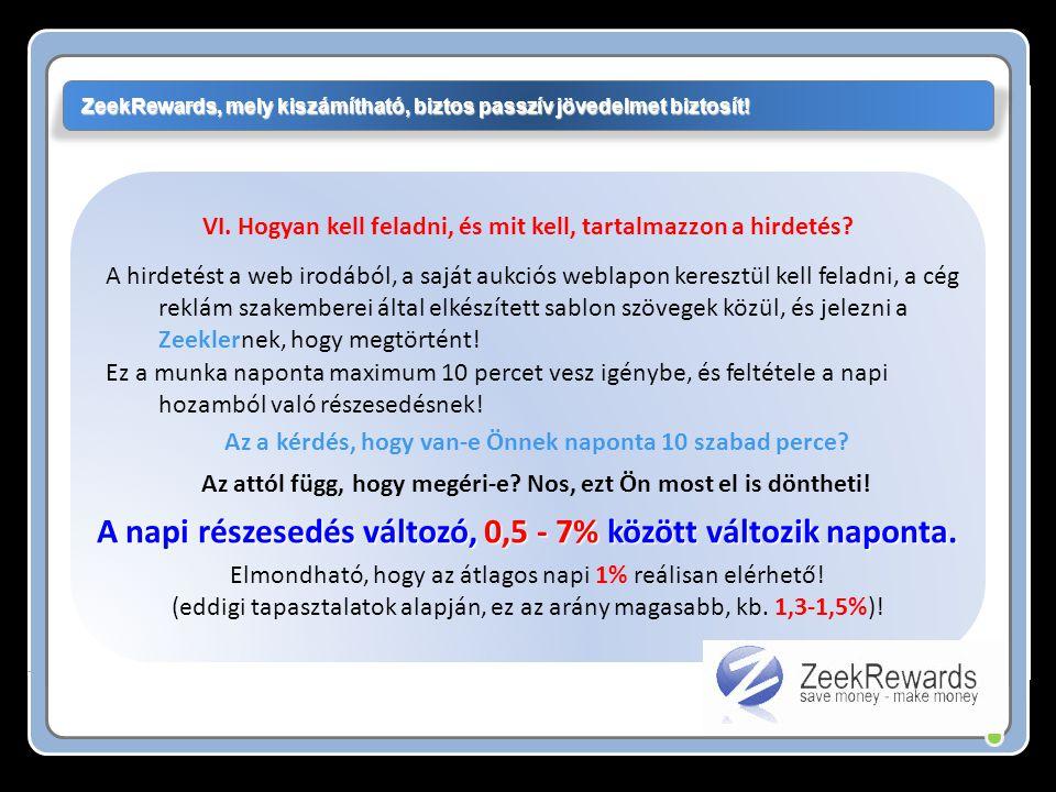 Három havidíjas csomag közűl választhat: ZeekRewards, mely kiszámítható, biztos passzív jövedelmet biztosít.