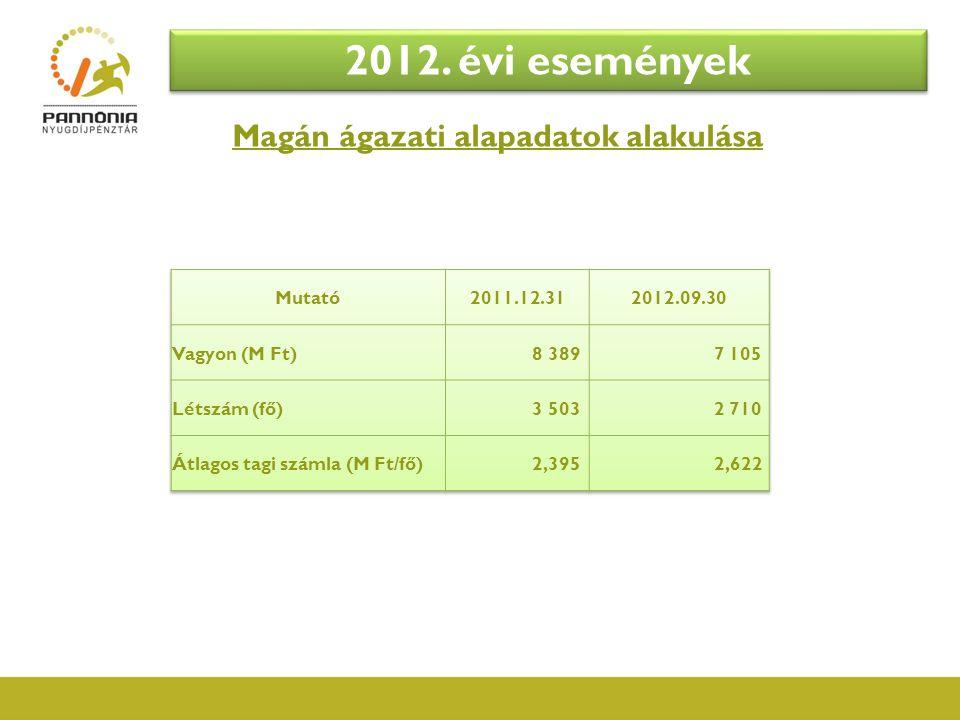 Nyugdíjpénztár  PSZÁF ellenőrzések:  2012.