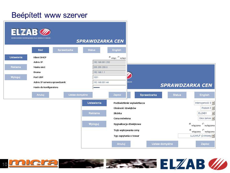 Beépített www szerver 10
