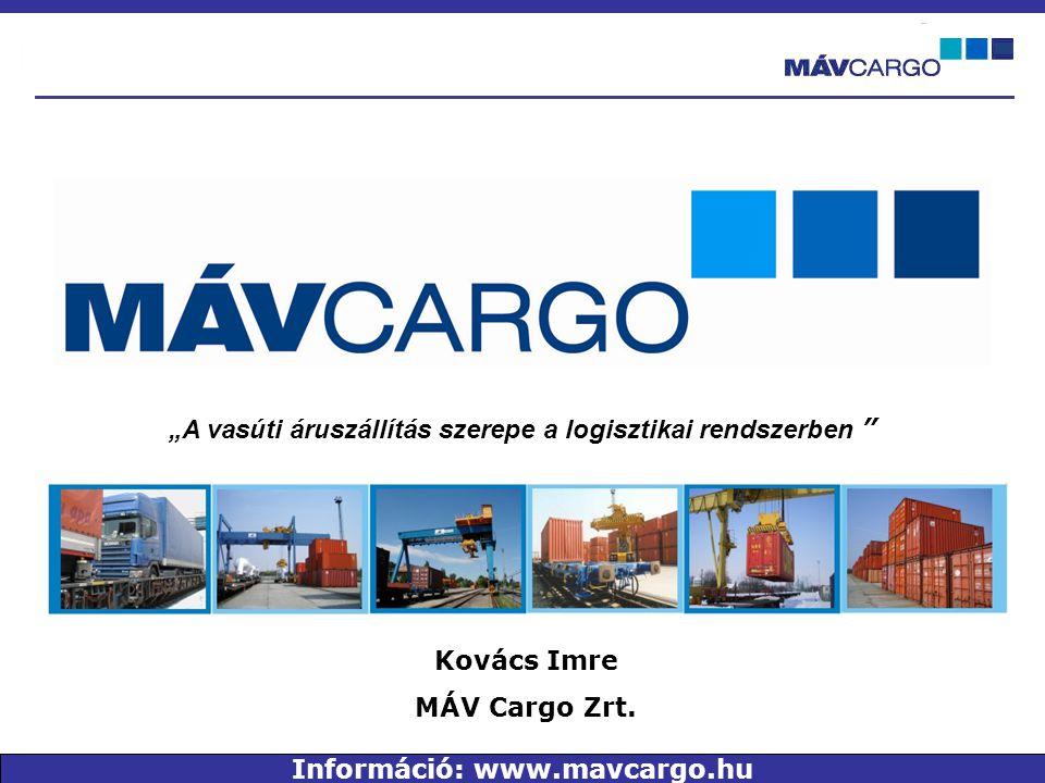"""""""A vasúti áruszállítás szerepe a logisztikai rendszerben Kovács Imre MÁV Cargo Zrt."""
