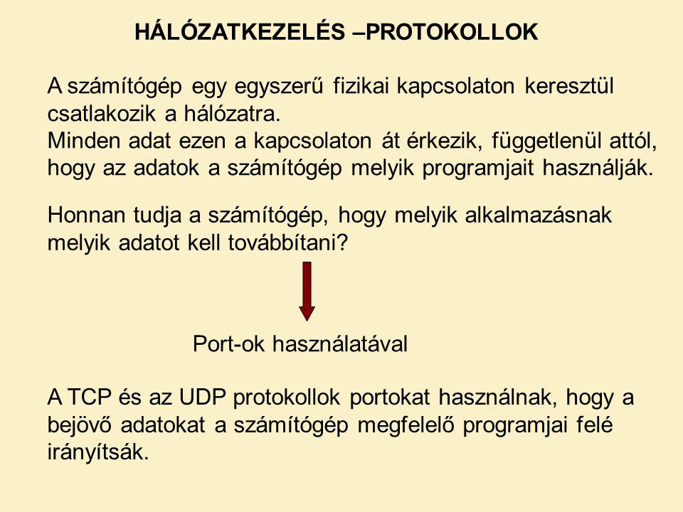 Összeköttetés-alapú kapcsolat (TCP) – szerver 4.