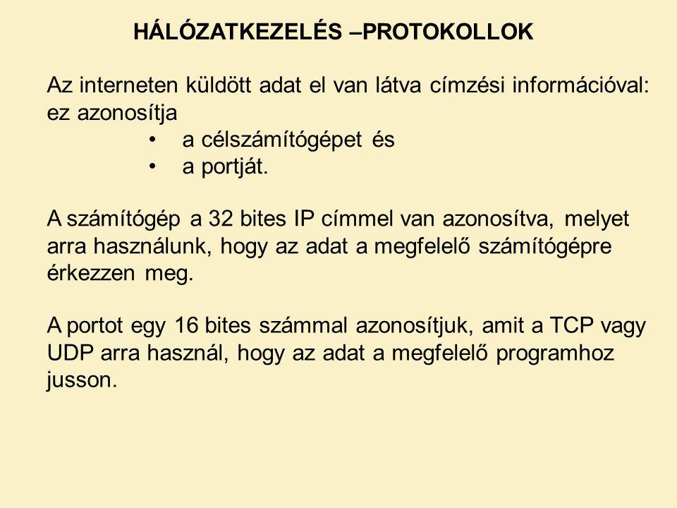 Összeköttetés-alapú kapcsolat (TCP) – kliens 1-2.