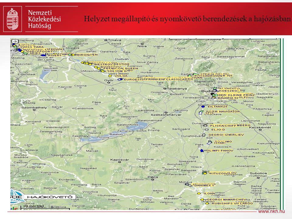 Helyzet megállapító és nyomkövető berendezések a hajózásban Belvízi hajózási elektronikus térkép megjelenítő rendszer (Inland ECDIS)