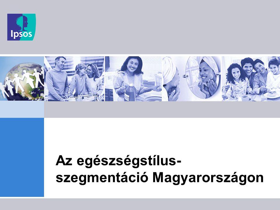 4 Magyar egészségstílusok a szegmentáció eredménye A szegmentációt az egészségmagatartásnak az előzőekben ismertetett - 3 dimenziójában - 5 viselkedést (dohányzás, alkoholfogyasztás, test-mozgás, étkezés, súlykontroll) vizsgálva végezzük A magyar felnőtt lakosság kilenc egészségprofilba sorolható Ezek a profilok a viselkedés, személyes belső tényezők és csoporthatások konzisztens eredői, ezért az egészségkommunikáció alapvető közönségei