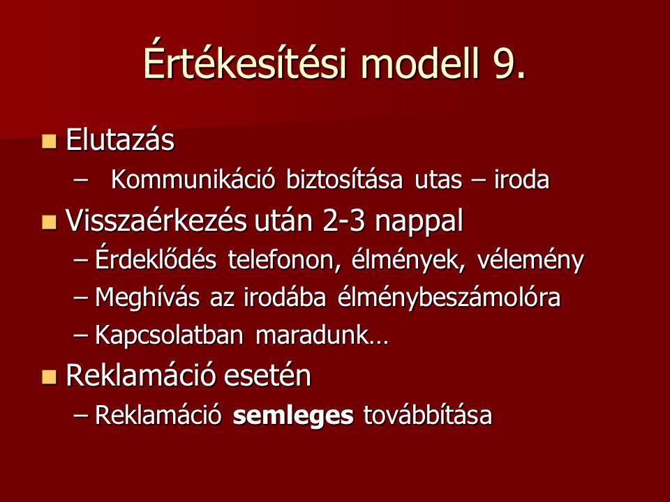 Értékesítési modell 9.