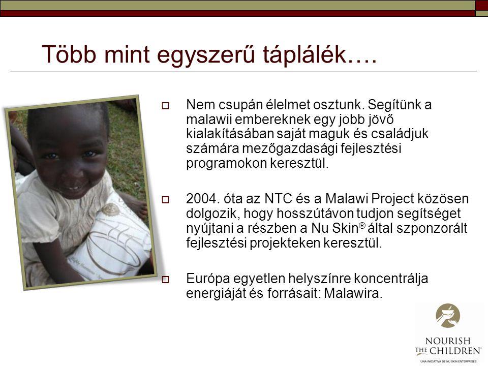 Több mint egyszerű táplálék….  Nem csupán élelmet osztunk. Segítünk a malawii embereknek egy jobb jövő kialakításában saját maguk és családjuk számár