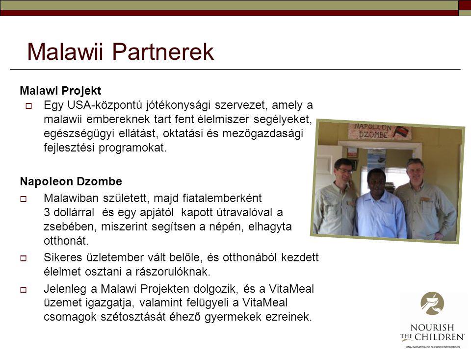 Malawii Partnerek Malawi Projekt  Egy USA-központú jótékonysági szervezet, amely a malawii embereknek tart fent élelmiszer segélyeket, egészségügyi e