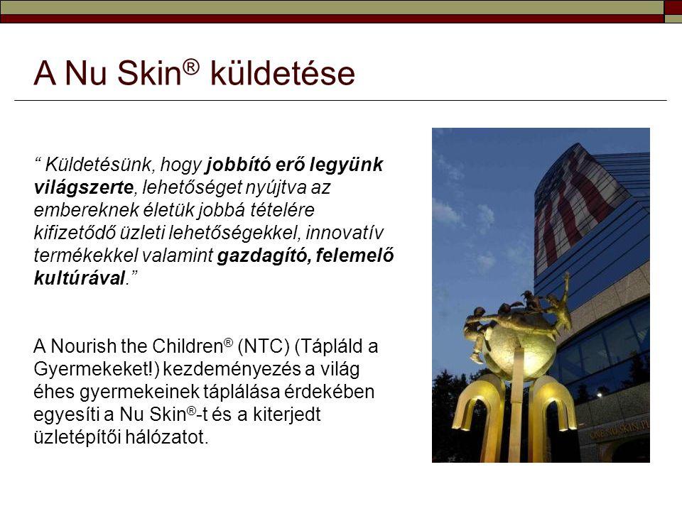 Gyermekeket menteni egy egyedülálló ötlettel  2002-ben az éhezés világszerte jelenlévő járványszerű problémájának enyhítésére a Nu Skin ® útnak indította a NTC kezdeményezést.