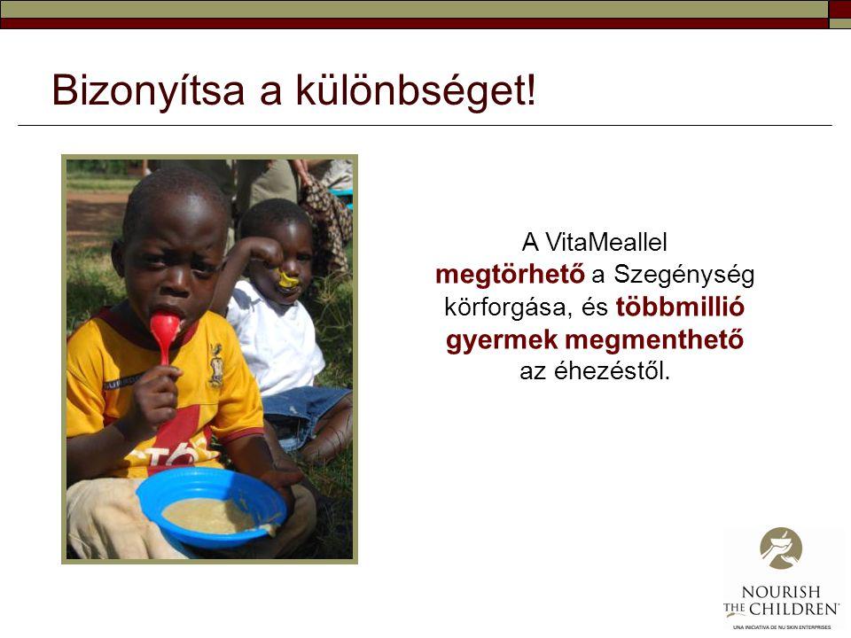 Bizonyítsa a különbséget! A VitaMeallel megtörhető a Szegénység körforgása, és többmillió gyermek megmenthető az éhezéstől.