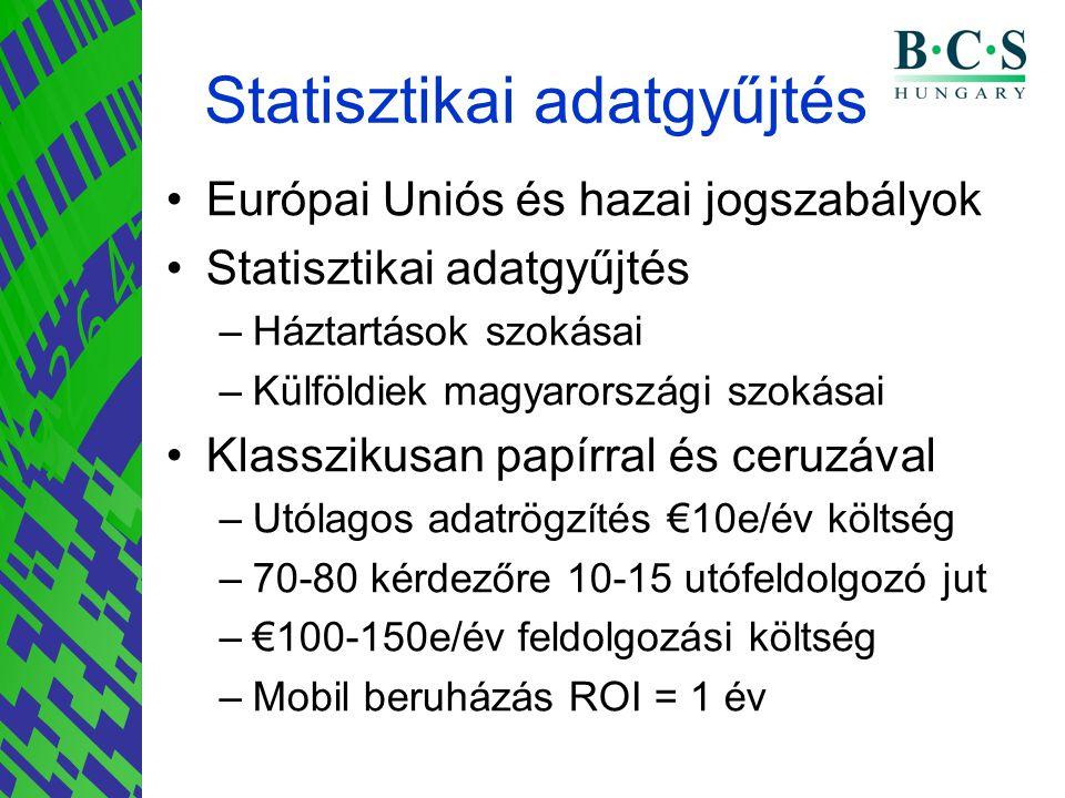 Statisztikai adatgyűjtés •Európai Uniós és hazai jogszabályok •Statisztikai adatgyűjtés –Háztartások szokásai –Külföldiek magyarországi szokásai •Klas