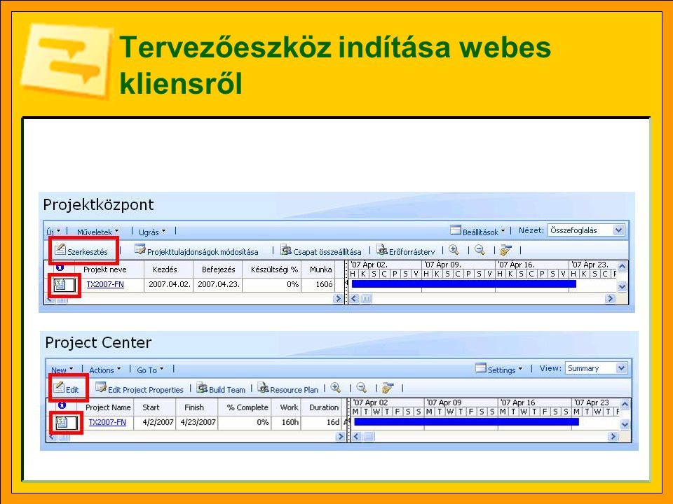 Tervezőeszköz indítása webes kliensről