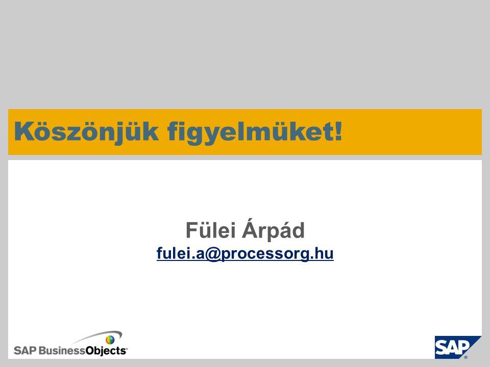 Fülei Árpád fulei.a@processorg.hu Köszönjük figyelmüket!