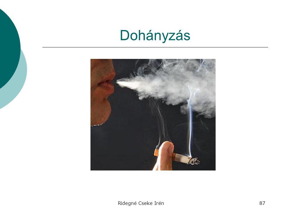 Ridegné Cseke Irén87 Dohányzás