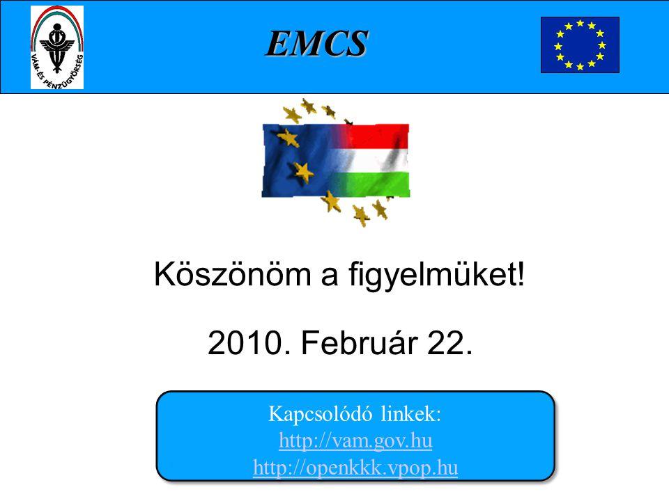 Köszönöm a figyelmüket! 2010. Február 22.. Kapcsolódó linkek: http://vam.gov.hu http://openkkk.vpop.hu http://vam.gov.hu http://openkkk.vpop.hu Kapcso