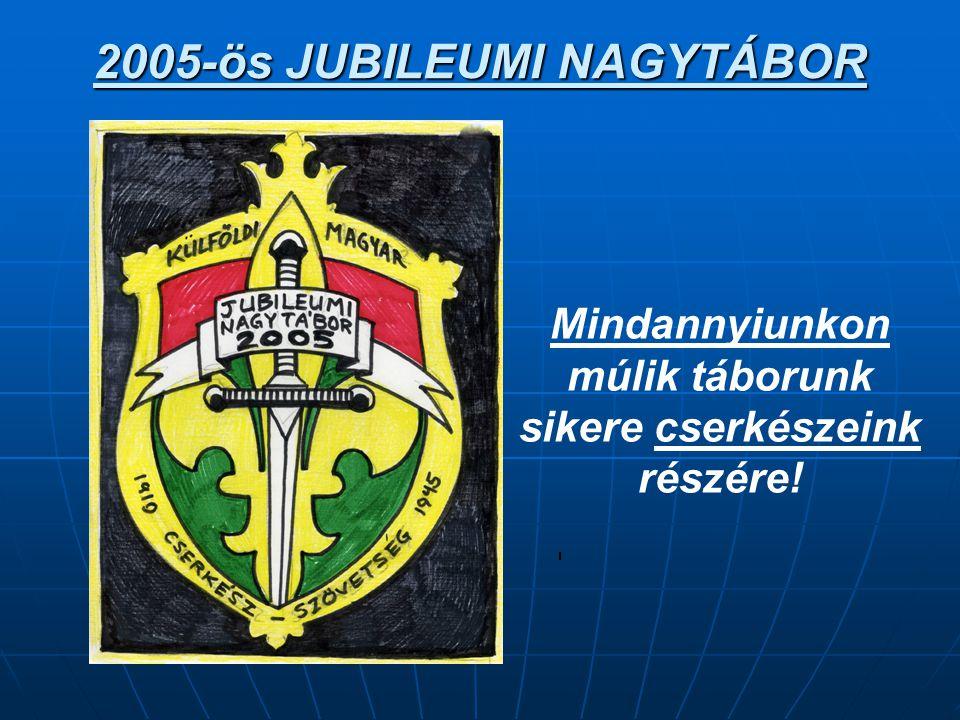 2005-ös JUBILEUMI NAGYTÁBOR.. Mindannyiunkon múlik táborunk sikere cserkészeink részére!