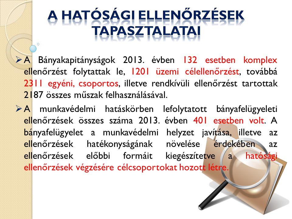  A Bányakapitányságok 2013.