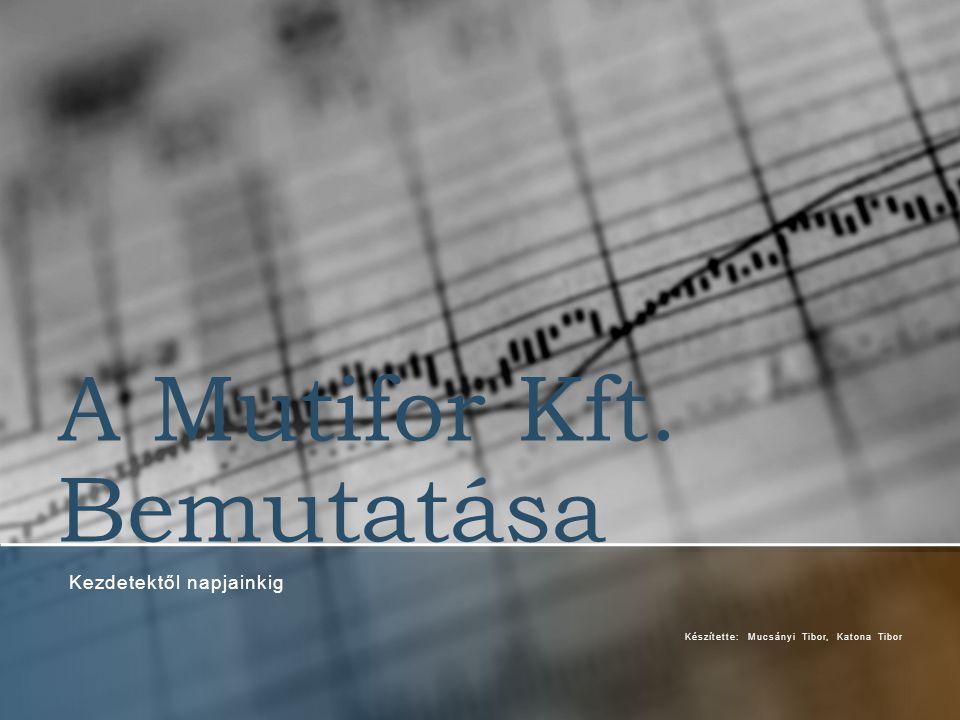 A Mutifor Kft. Bemutatása Kezdetektől napjainkig Készítette: Mucsányi Tibor, Katona Tibor