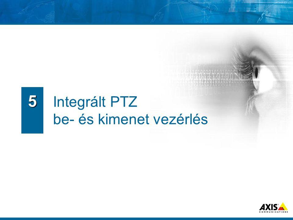 Integrált PTZ be- és kimenet vezérlés 5