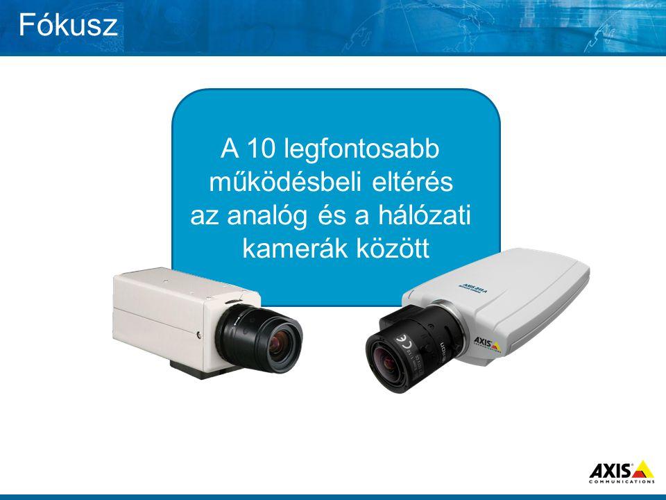 Fókusz A 10 legfontosabb működésbeli eltérés az analóg és a hálózati kamerák között