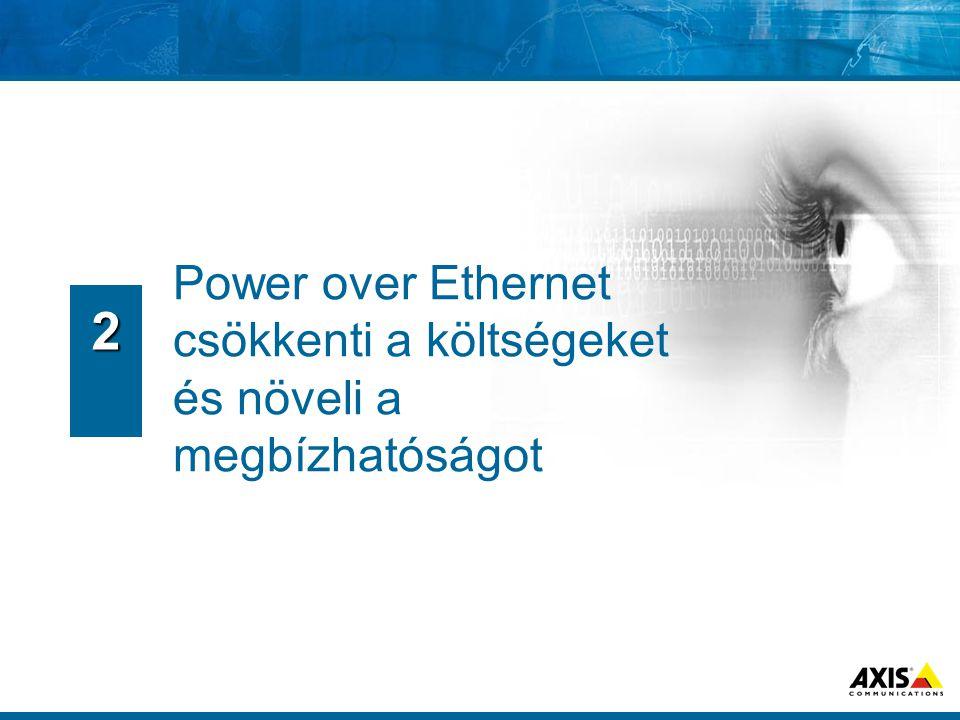  PTZ vezérlés ugyanazon a kábelen zajlik, mint a videójel átvitel  PTZ parancsok ugyanazt az IP hálózatot használják  Integrált I/O képes ¬ Triggerelni bármit ¬ Bármi által triggerelhető 5.