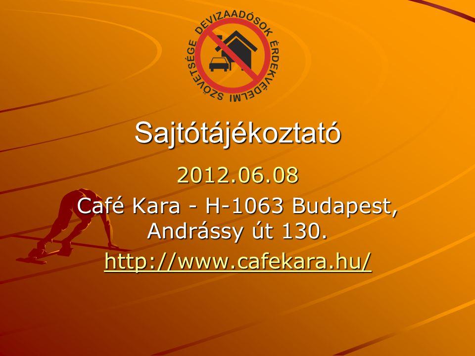 Sajtótájékoztató 2012.06.08 Café Kara - H-1063 Budapest, Andrássy út 130. http://www.cafekara.hu/