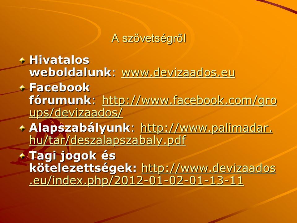 A szövetségről Hivatalos weboldalunk: www.devizaados.eu www.devizaados.eu Facebook fórumunk: http://www.facebook.com/gro ups/devizaados/ http://www.fa