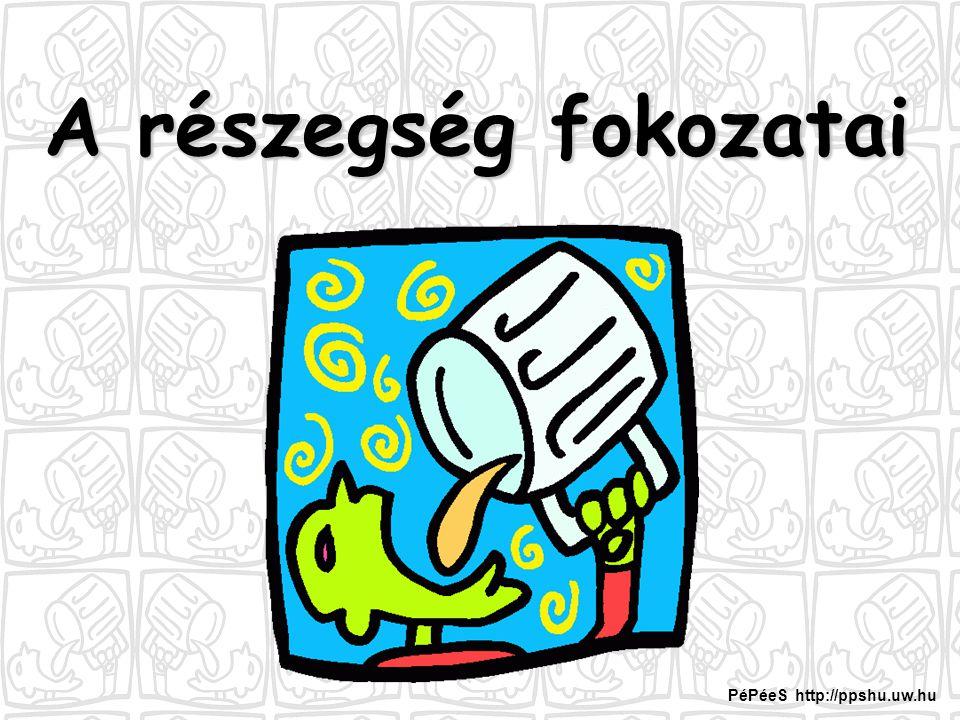 A részegség fokozatai PéPéeS http://ppshu.uw.hu