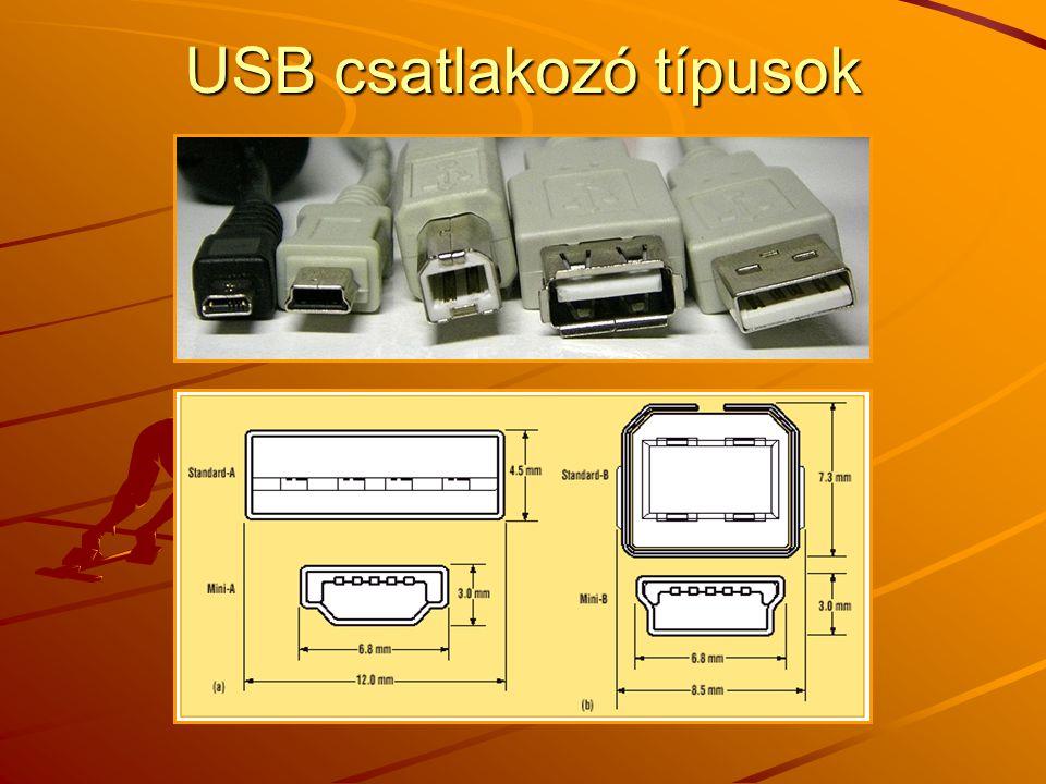 USB csatlakozó típusok