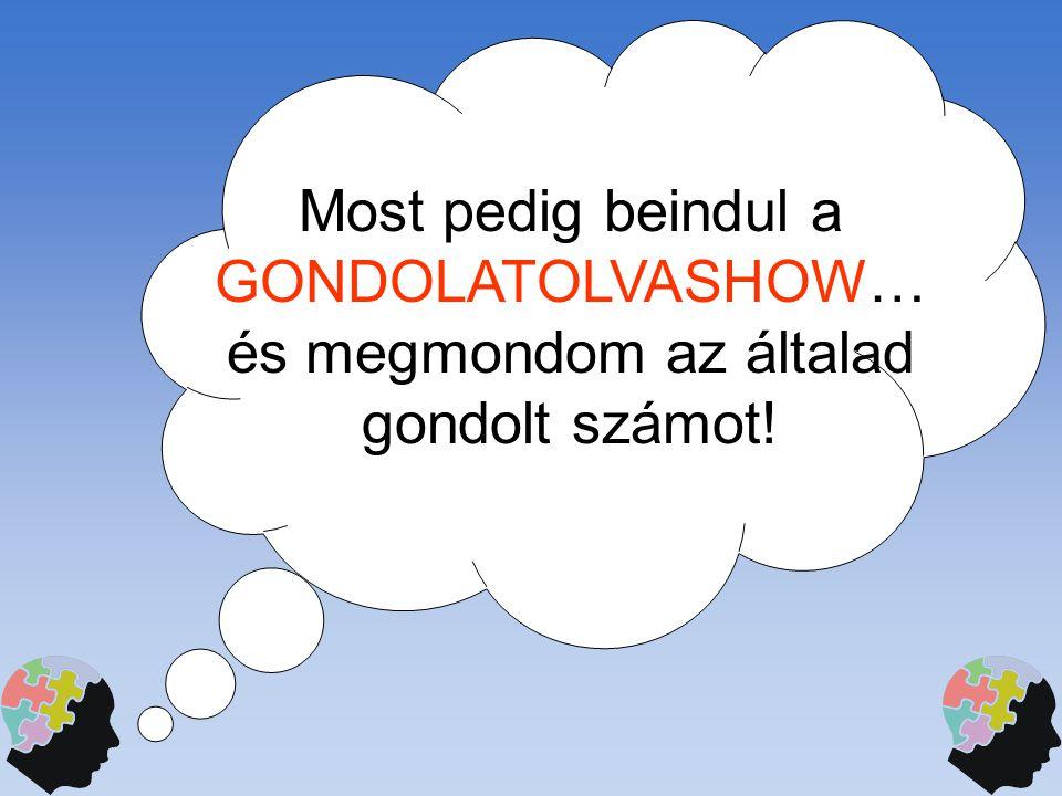 Most pedig beindul a GONDOLATOLVASHOW… és megmondom az általad gondolt számot!