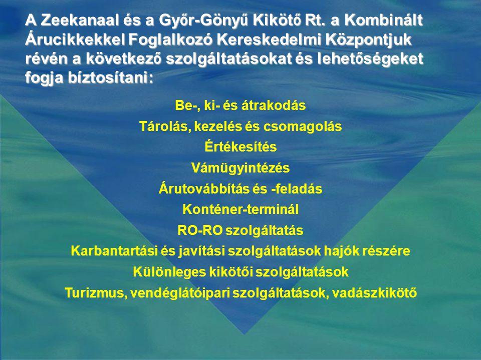 A Zeekanaal és a Gy ő r-Göny ű Kiköt ő Rt.