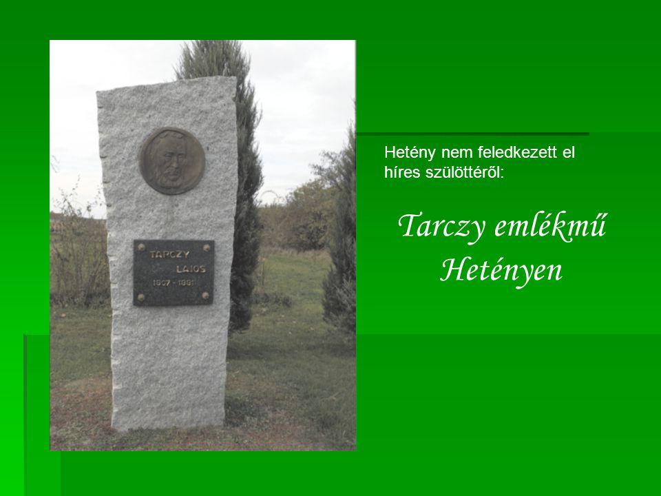 Hetény nem feledkezett el híres szülöttéről: Tarczy emlékmű Hetényen