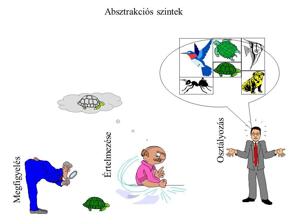 Megfigyelés Értelmezése Osztályozás Absztrakciós szintek