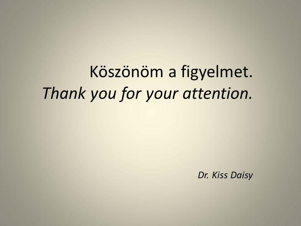 Köszönöm a figyelmet. Thank you for your attention. Dr. Kiss Daisy