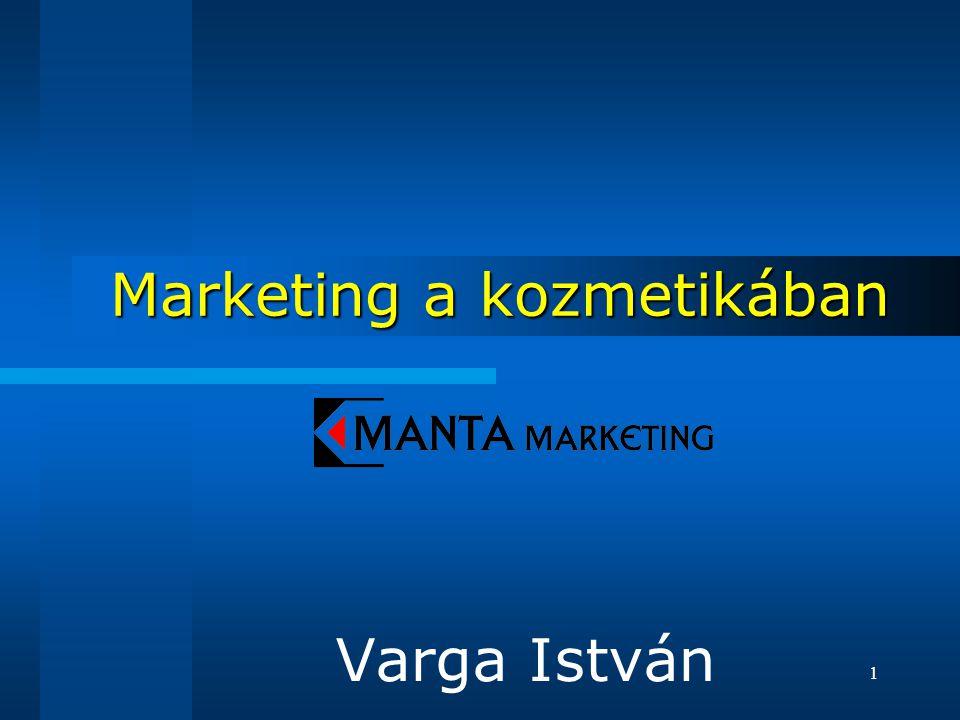 1 Marketing a kozmetikában Varga István