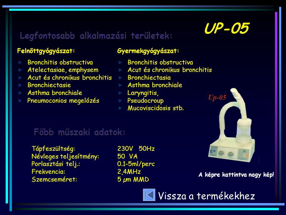 Felnőttgyógyászat: Bronchitis obstructiva Atelectasiae, emphysem Acut és chronikus bronchitis Bronchiectasie Asthma bronchiale Pneumoconios megelózés