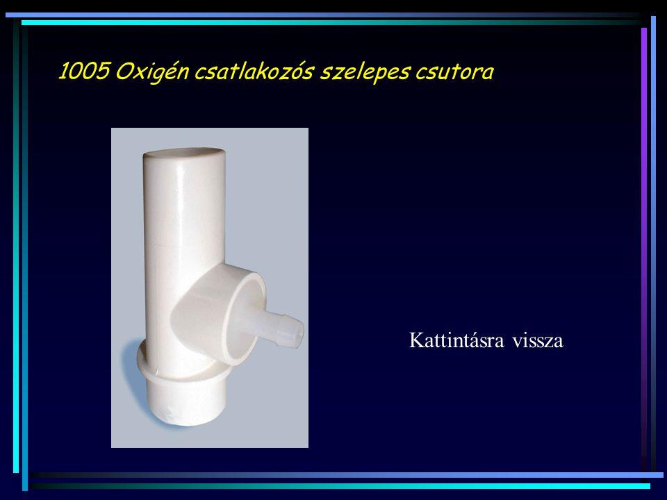 1005 Oxigén csatlakozós szelepes csutora Kattintásra vissza
