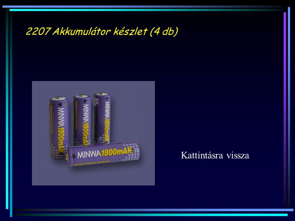 2207 Akkumulátor készlet (4 db) Kattintásra vissza