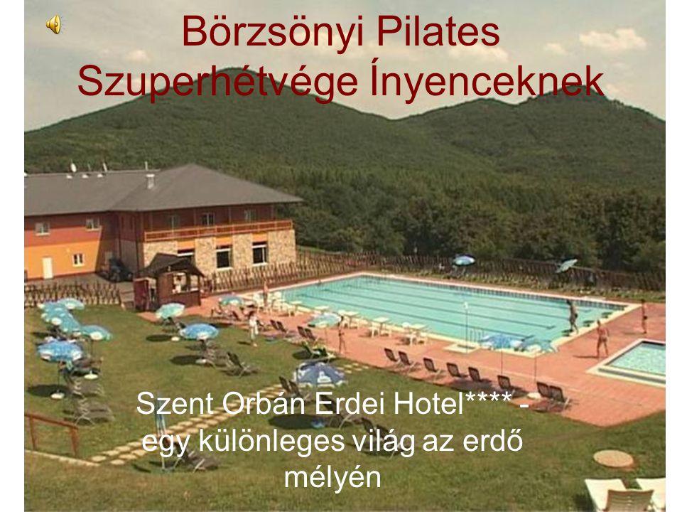 Börzsönyi Pilates Szuperhétvége Ínyenceknek Szent Orbán Erdei Hotel**** - egy különleges világ az erdő mélyén
