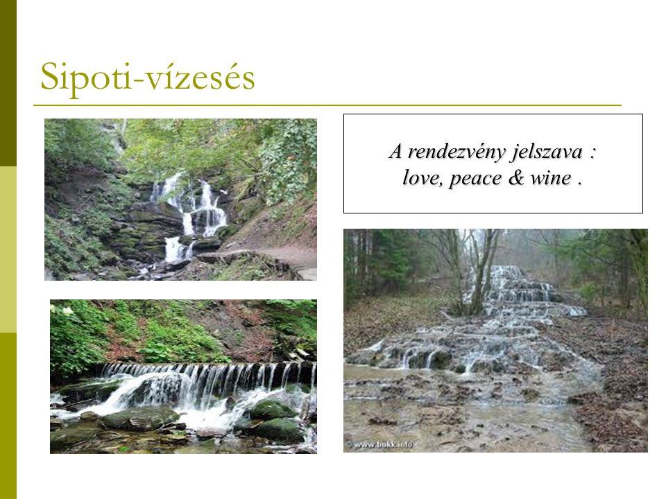 Sipoti-vízesés A rendezvény jelszava : love, peace & wine.