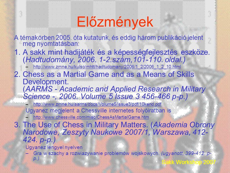 Előzmények A témakörben 2005.