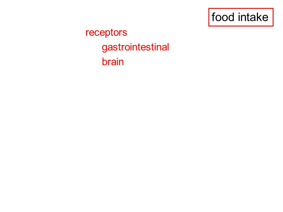 NEURONAL INPUTS - to the NTS - vagal inputs (from the stomach and the duodenum) - taste signals (facial and glossopharyngial)