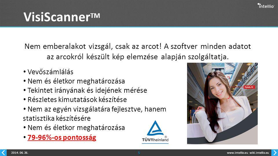 www.intellio.euwiki.intellio.eu2014.06. 26.6 VisiScanner TM Hogyan működik.