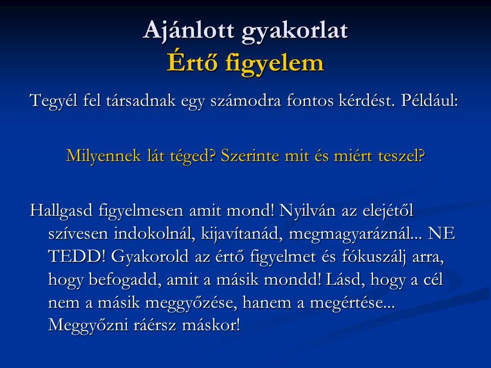 Ajánlott irodalom Boér Tamás http://www.bcch.com Tonk Emil: Üzleti patika Nógrádi Bence: Mikor Leszel Milliomos.