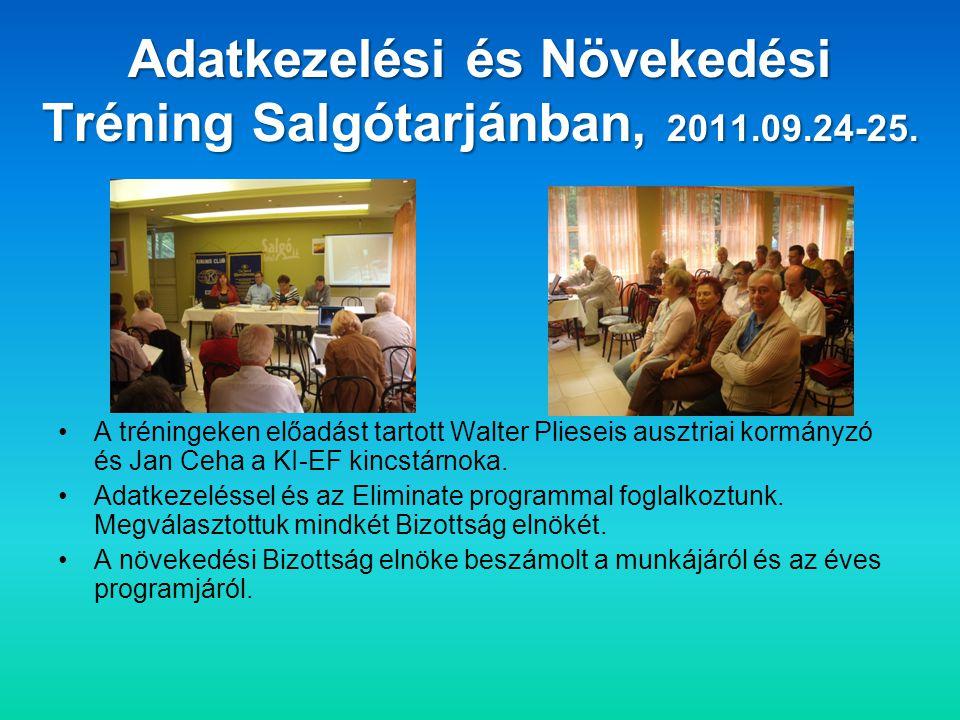 Adatkezelési és Növekedési Tréning Salgótarjánban, 2011.09.24-25.