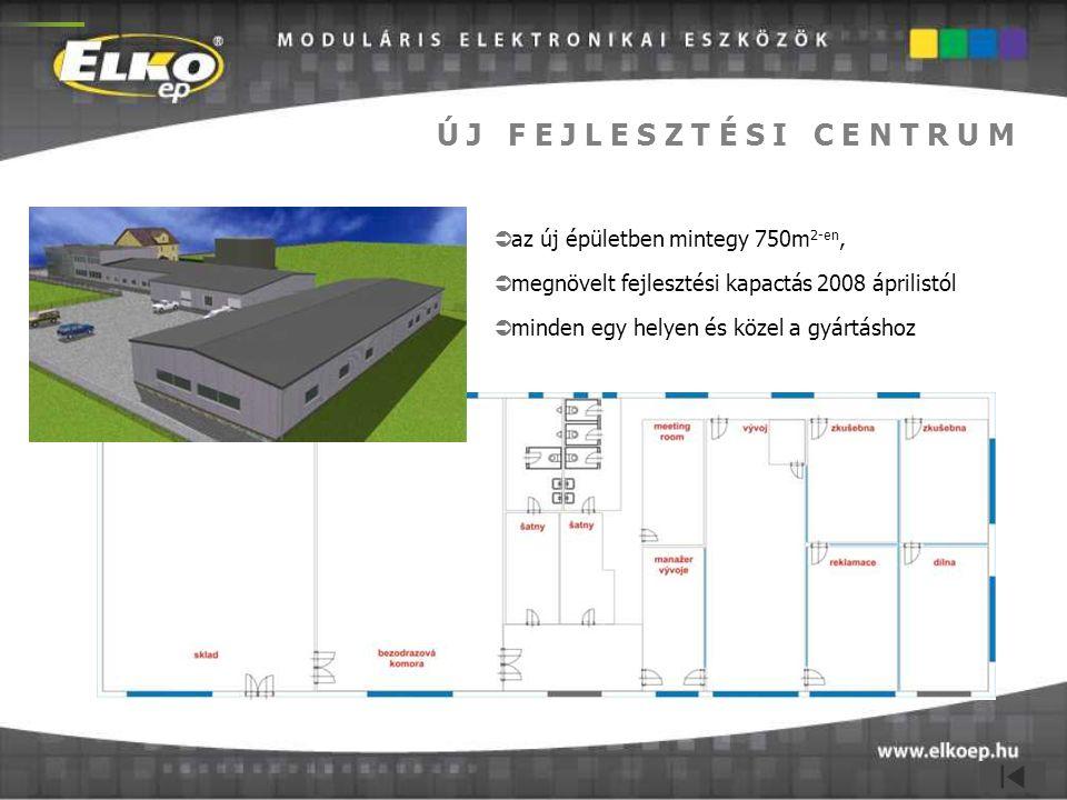 Ú J F E J L E S Z T É S I C E N T R U M  az új épületben mintegy 750m 2-en,  megnövelt fejlesztési kapactás 2008 áprilistól  minden egy helyen és k