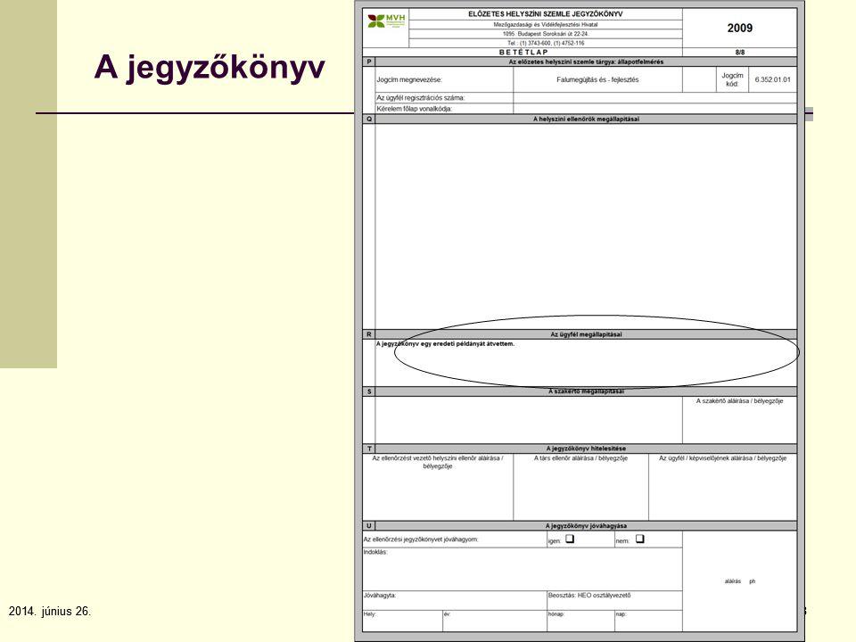 2014. június 26.8 8 A jegyzőkönyv