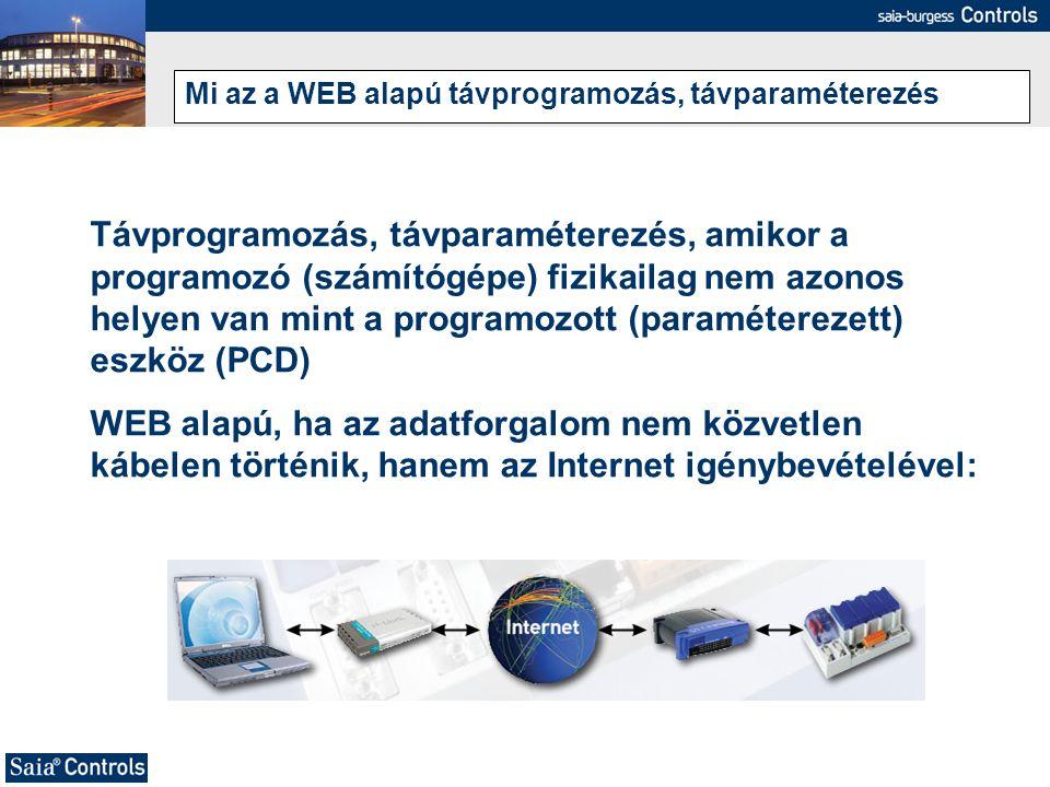 Mi az a WEB alapú távprogramozás, távparaméterezés Távprogramozás, távparaméterezés, amikor a programozó (számítógépe) fizikailag nem azonos helyen va
