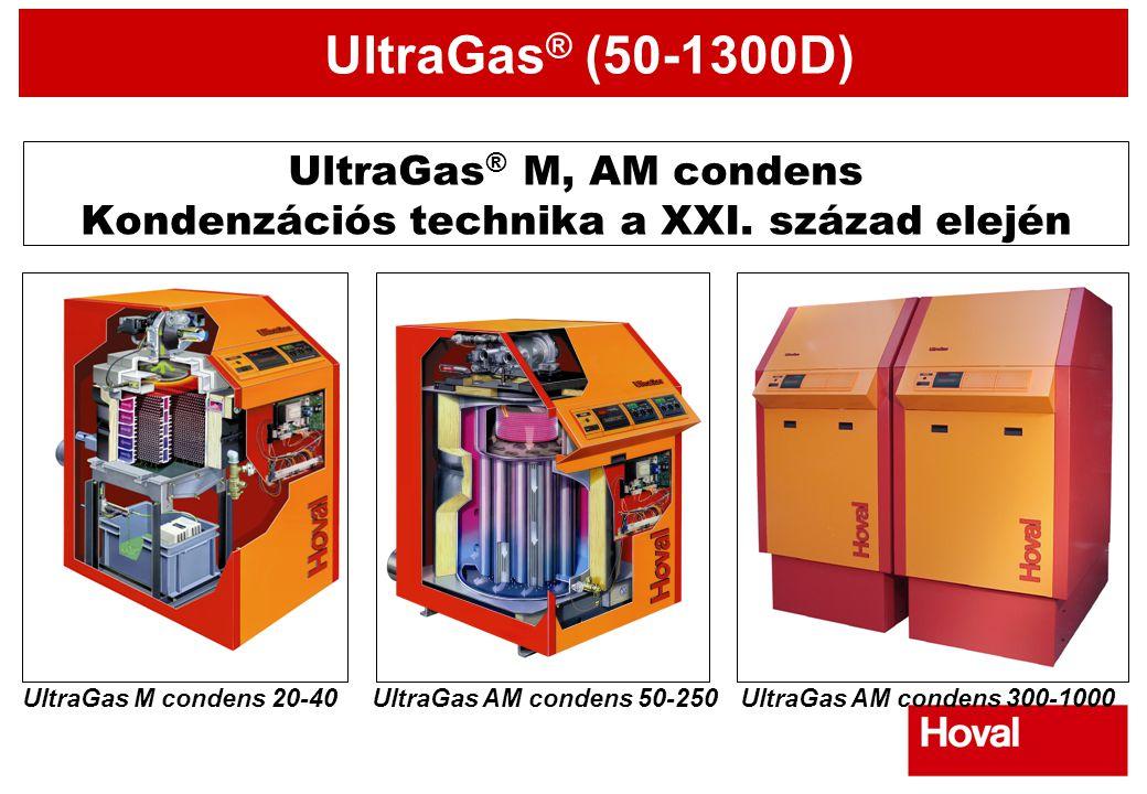 UltraGas ® (50-1300D) UltraGas ® M, AM condens Kondenzációs technika a XXI. század elején UltraGas AM condens 50-250UltraGas M condens 20-40UltraGas A