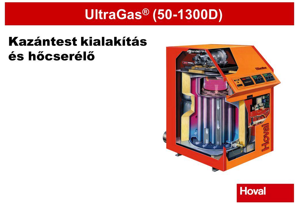UltraGas ® (50-1300D) Kazántest kialakítás és hőcserélő